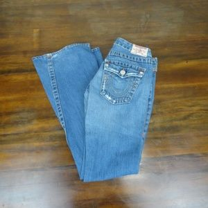 True Religion Jeans Joey Distressed Flare Size 27